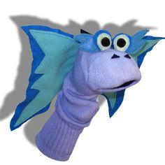 Blue Dragon Sock Puppet