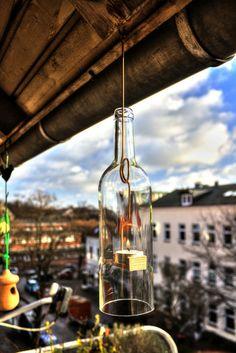 """Windlicht """"BUDDEL"""" aus Weinflasche von PIET und ERNA auf DaWanda.com"""