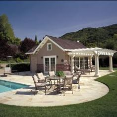 Stone Brick Pool House Designs Guest Html on