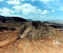 """Montaña sagrada para los guanches de """"Tindaya"""", en La Oliva, Fuerteventura."""
