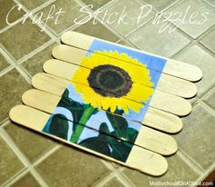 My friend, Linda, shared these puzzles with me.  She actually had the children draw pictures on their popsicle sticks, but I decided to adapt it for our sunflower theme. Supplies: Jumbo craft sticks Photo or clip art Glue Craft knife 1.  Print and cut out a sunflower photo.  Lay out the craft sticks to seecontinue Reading...