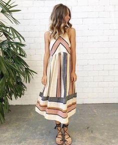 Be ahead of the trends inthis beautifulstriped dress! Guaranteed all eyes on you❤️ Free Worldwide Shipping Free Returns Free Size Exchange 100% Money-Back Guarantee Size S M L XL US 0-2 4-6 8-10 12-14 UK 4-6 8-10 12-14 16-18 AU 4-6 8-10 12-14 16-18 EU 32-34 36-38 40-42 44-46 SIZE BUST LENGTH S 33.5in85cm 47.6in121c