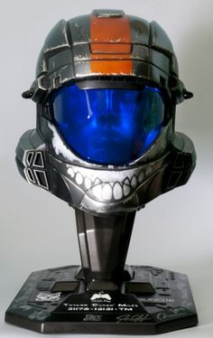 "Halo 3: ODST 1:1 ""Dutch"" helmet with display stand set."