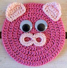 Best Free Crochet » Critter Coaster – Pig