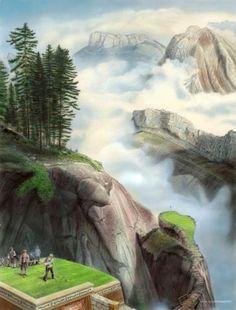 Alps International Golf & Climbing Club (a fantasy golf painting ; Fantasy Golf, Golf Painting, Golf Pictures, Classic Italian, Heaven On Earth, Alps, Landscape Architecture, Bud, Golf Courses