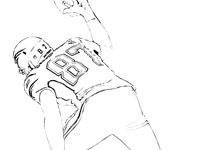 Gronkthumbnail New England Patriots Coloring Pages