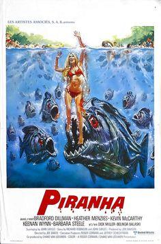 """""""Piranha"""" is een Amerikaanse horrorfilm van Joe Dante uit 1978.Twee tieners besluiten 's nachts in een verlaten militair domein te gaan zwemmen. Ze worden echter aangevallen door een onzichtbare kracht en verdwijnen onder water. Er gaat een licht aan en een bewaker onderzoekt het lawaai, maar hulp kan niet meer baten. Een verstrooide verzekeringsonderzoeker Maggie McKeown besluit de zaak te onderzoeken met hulp van een slonzige dronkenlap, Paul Grogan, als gids."""