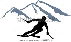 Skier Silhouette Vector Image | Download Free Vector Art | Free-Vectors Scan N Cut Projects, Wood Projects, Pyrography Designs, Scroll Saw Patterns Free, Cooler Painting, Family Images, Snow Skiing, Silhouette Vector, Free Vector Art
