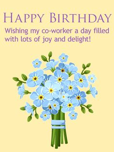 Forget Me Not Clip Art, Vector Images & Illustrations - iStock Happy Birthday Coworker, Happy Birthday Blue, Boss Birthday, Happy Birthday Wishes Cards, Birthday Greeting Cards, Happy Birthday Flower Bouquet, Blue Bouquet, Flower Clipart, Forget Me Not