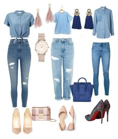 """Untitled #2248"" by mrstreschic on Polyvore featuring River Island, Topshop, STELLA McCARTNEY, Nobody Denim, Miss Selfridge, Christian Louboutin, CÉLINE, MICHAEL Michael Kors, ROSEFIELD and Lizzie Fortunato"
