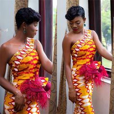 Kente Fabric Designs: See These Kente Styles For Fashionable Ladies - Lab Africa African Fashion Ankara, African Fashion Designers, Latest African Fashion Dresses, African Print Fashion, African Prints, Africa Fashion, African Style, African Lace Dresses, African Wedding Dress