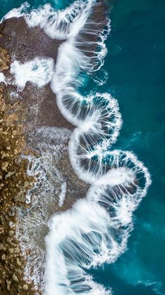 Aerial Photo of Pupukea Shore by Clark Little Clark Little Photography, Am Meer, Sea Waves, Patterns In Nature, Beautiful Places To Visit, Under The Sea, Places To Go, Beach, Water