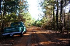 Country back road  trees road country truck...can't wait to go on some real dirt roads