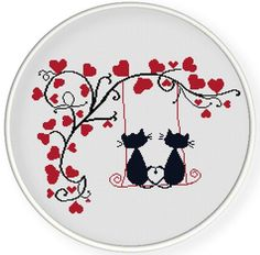 Thrilling Designing Your Own Cross Stitch Embroidery Patterns Ideas. Exhilarating Designing Your Own Cross Stitch Embroidery Patterns Ideas. Cross Stitch Heart, Simple Cross Stitch, Counted Cross Stitch Patterns, Cross Stitch Designs, Cross Stitch Embroidery, Embroidery Patterns, Hand Embroidery, Cat Cross Stitches, Canvas Template