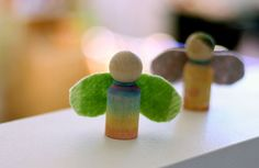 Happy Whimsical Hearts: How to make a rainbow peg doll