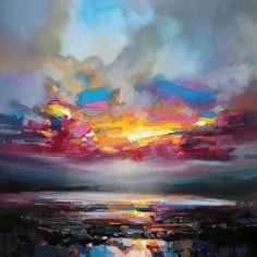 The cover of Scottish Skies: Scottish Landscape Painting by artist Scott Naismith, published in Art And Illustration, Art Amour, Art Abstrait, Fine Art, Art Design, Design Color, Design Model, Painting Inspiration, Landscape Paintings
