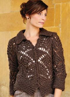 knitted sweater.  free pattern (uses heavy yarn so is fast)