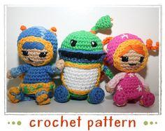 Milli Geo & Bot  Team Umizoomi  Crochet Pattern by patternsbysteph