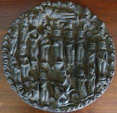 Rare Burmese Bronze Pyu Stele 9th Century
