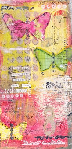 art journal inspiration - She saw wide open spaces and took flight by ChristyTomlinson