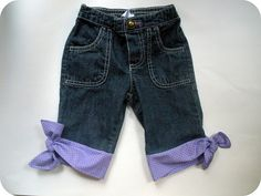 Lengthen kids shorts with a cool knotted no-hem edging!