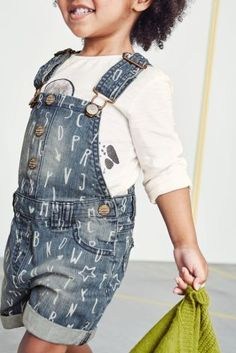 fd932ecd64f Buy Denim Printed Dungarees (3mths-6yrs) online today at Next  United States
