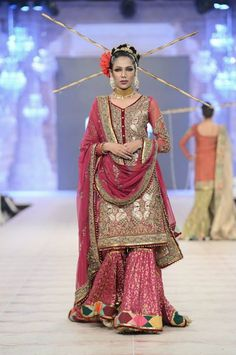 Pakistani Bridal dresses 2014 Stunning bridal by Fahad Hussayn https://www.facebook.com/InTriGue.design.Wear