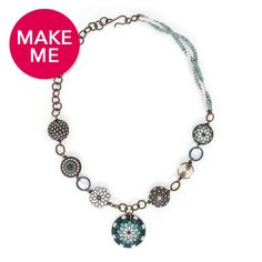 Flower of the Peacock Necklace | Fusion Beads Inspiration Gallery