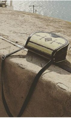 shoulder round  leather bag, kilim decoration by weloveboho on Etsy