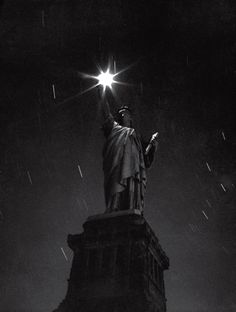 Statue of Liberty, during a blackout, 1942, from Life Magazine
