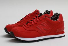 New Balance 574 | Red & Leopard