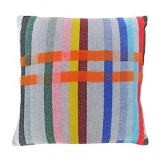 Wallace Sewell Anniversary Cushion   London Transport Museum Shop Featuring the colors of the London Underground lines. Brilliant.