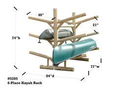 Log Kayak Rack Unfinished >>> Check out this great product. Kayak Holder, Kayak Rack, Diy Kayak Storage, Boat Storage, Kayak Stand, Northern White Cedar, Boat Shed, Kayaking Tips, Lake Cabins