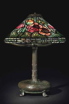 Poppy Lamp Estimate: $80,000-$120,000 Year: 1895 Dimensions: 21 ¾ inches high, 16 ¾ inches in diameter.  Photo credit: Christie's