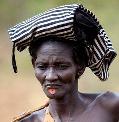Bodi tribe woman from the Omo Valley, Ethiopia.