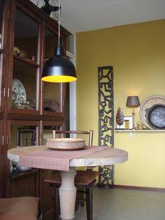keuken in warm oker/bruin