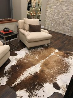 Patricia Bell from California shared a picture of this gorgeous speckled tricolor cowhide rug we sold to her! Thanks so much for the beautiful photo!
