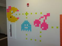 30 and Counting: Post-It Art: Ms. Pacman