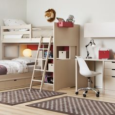 dormitorio con camas cruzadas
