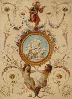 wallpaperpainting  oriental stile   beginning 19th century  b   by janwillemsen