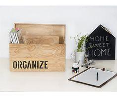 Caja de madera Organize