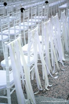 .if we have reception outside, decorations for wedding party's chairs
