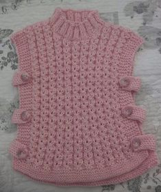 Baby Cardigan Knitting Pattern Free, Poncho Knitting Patterns, Baby Poncho, Crochet Patterns, Knitted Baby Clothes, Crochet Clothes, Knitting For Kids, Baby Knitting, Knit Crochet