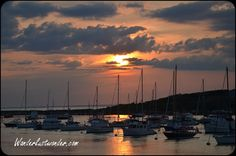 Photo Friday: Sunset and Sailboats on Cuttyhunk Island-Joe and I sailed there at least 8 times.