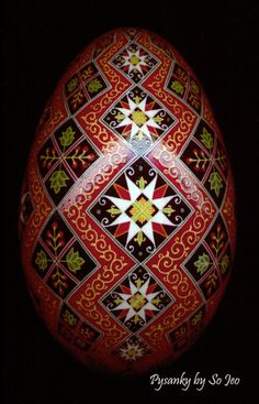 Made To Order: Stacking Diamonds Pysanka Batik Egg Art EBSQ Plus