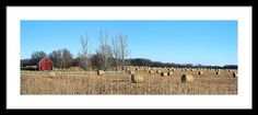 Field Of Bales Framed Print By Bonfire #Photography