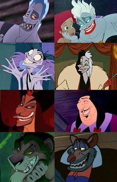 Disney: horrible people love arching their thin, effeminate painted eyebrows.