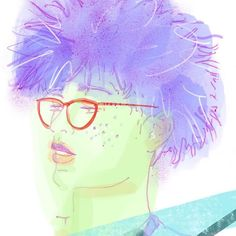 And now for another crazy upload of images for the big catch up of with my Big Hair Dont Care, Purple Hair, Then And Now, Insta Art, Irish, Glasses, Illustration, Anime, Image