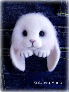 Купить Зайчик брошь(брошь для кармана) - белый, зайчик, заяц, зайчонок, брошь, зайка брошь
