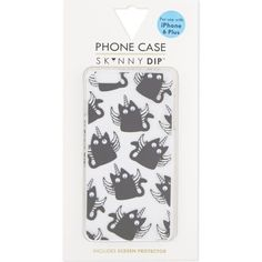 Make your everyday items look a little better with this angel caticorn iPhone 6 plus case from Skinny Dip. Sporting an all-over angel caticorn design, with each character featuring googly eyes, this will add charm to your phone. Iphone 6 Plus Case, Diy Phone Case, Skinnydip London, Phone Cases Iphone6, Screen Protector, Tech Accessories, Dips, Angel, Make It Yourself